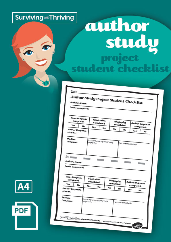 surviving-and-thriving-author-study-project-student-checklist