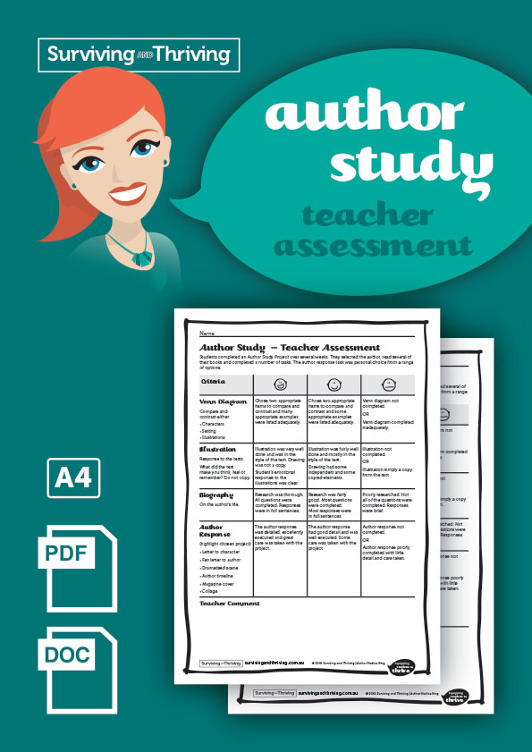 surviving-and-thriving-author-study-teacher-assessment