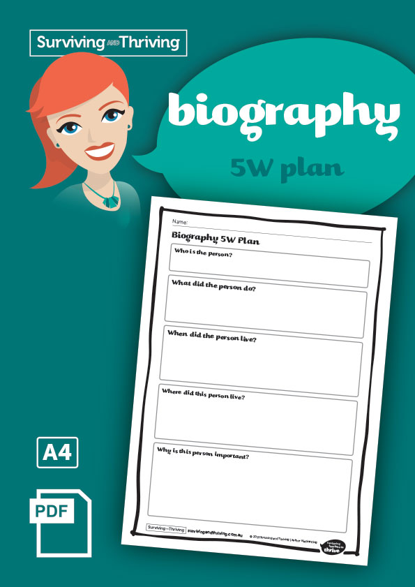 surviving-and-thriving-biography-5w-plan