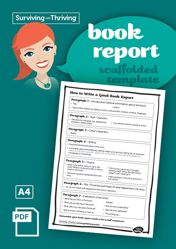 surviving-and-thriving-book-report-scaffolded-template