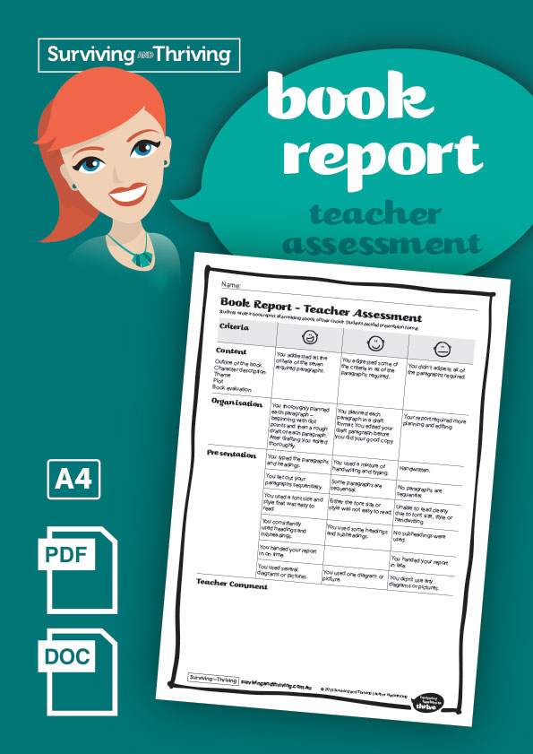 surviving-and-thriving-book-report-teacher-assessment